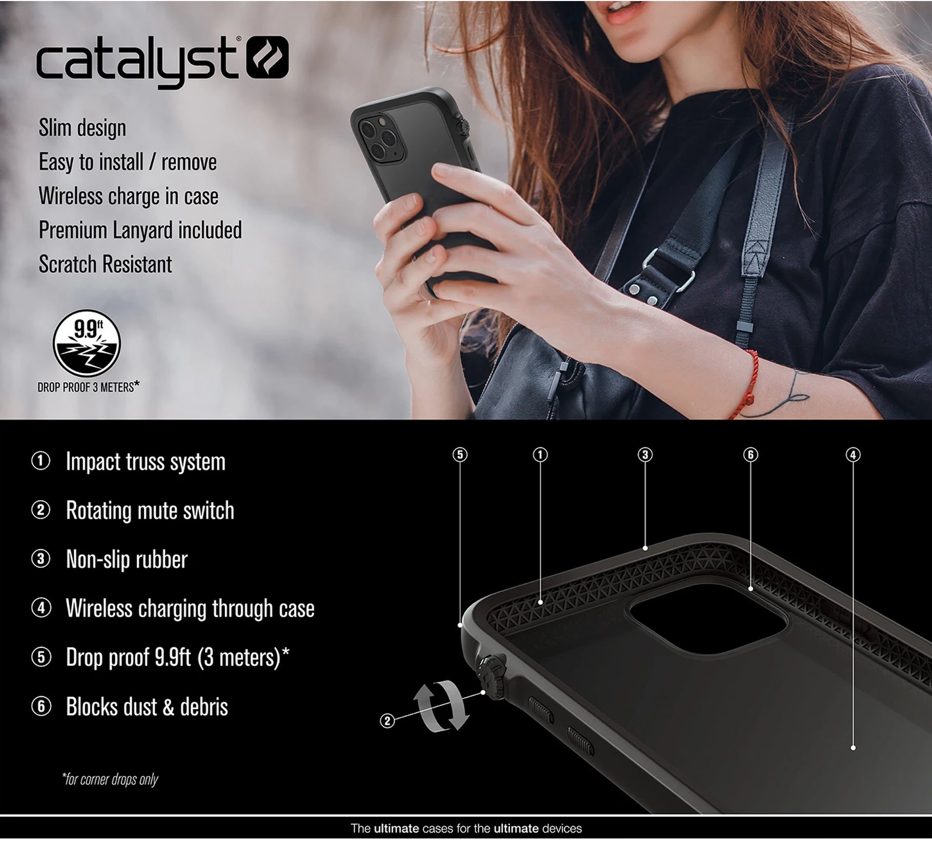 catalyst/840625104598/1-des-fx-catalyst-waterproof-case%20-iphone-11-pro-stealth-black-color-840625104598-malaysia-authorised-retailer